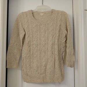 Oatmeal cable sweater